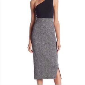 14th & Union medium midi knit ponte pencil skirt